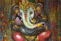 ganesha / Ganesha, the Elephant God - the son of Shiva and Parvati. Remover of obstacles, deva of new beginnings, intellect & wisdom.