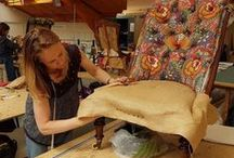 Students Work 2016 / Wendy Shorter Interiors upholstery and soft furnishings students at work.