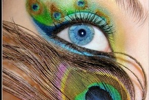 WOW Eye Make-up / Stunning eye framing eyeshadow can be used to highlight eyes and contact lenses. This is a collection of some beautiful ideas.
