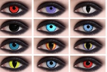 Terrifying Contacts For Halloween / This Halloween, choose some contacts to enhance your outfit and give you a more terrifying look! Check some out at http://www.colormecontacts.com/crazy-halloween-eyes/  #contactlens