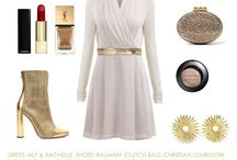LOOK OF THE DAY / Here we create outfit mood boards, where we put our dresses with different accessories to create different look for each day.  See how you can transform an outfit from simply changing a few accessories.