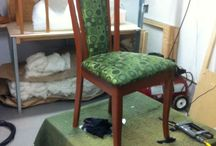 Dining Chairs / 6 Skan Designs dinning chairs getting a make over with J.Ennis's Ambiance fabric