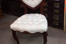 Tufted Chair / Little Chair Needing Reupholstery
