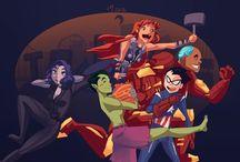 Teen Titans / Teen Titans GO! Starfire x Robin