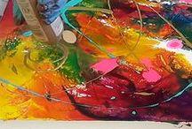 Malerei / Malerei, Acrylmalerei, Aquarellmalerei