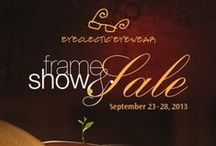 2013 Eyeclectic Frame Show & Sale / ONE WEEK ONLY!  Trunk Shows every day - Sep 23-28, 2013!  For Specific Suppliers, Dates & Locations - see the pins on this board. For maps to Eyeclectic locations - see our website:  www.eyeclectic.ca