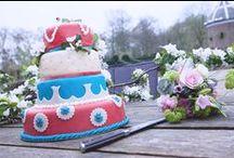 Bruidstaart / De lekkerste en mooiste taarten door Bakkerij van Ooijen uit Tiel. Bespreek jullie wensen in een persoonlijk gesprek. www.bakkerijvanooijen.nl/