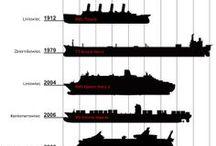 Titanic na rysunkach / Titanic na rysunkach technicznych i podobnych