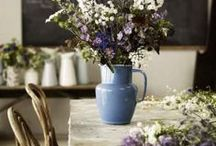 Flowers, Table Settings, Decorations / Garden & Home decor: ideas and inspirations, flower arrangements, table settings, DYI decorations, window sheers, beautiful pillows, candles, and more