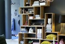 Box shelving/design/interiors / The latest trend.Using wooden boxes and crates for storage in Interior design.DIY or commercial use of boxes is a fun,cheap and creative way to design an Interior.