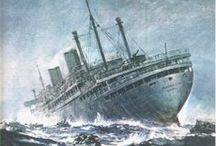 """MS Piłsudski / """"MS Piłsudski"""" to polski transatlantyk. Historia jego była tragiczna, stąd mówi się o nim: """"Polski Titanic""""."""