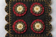 Felt coaster or heat pads- keçe bardak altı veya nihaleler