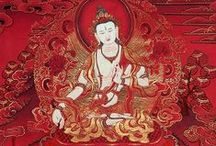 "Buddhist Art / Buddhist paintings (including traditional Tiberan thangka painting), boddhisattvas (yidams, ""deities""), symbols and motifs, statues, pictures. Occassionally Tibetan architecture, clothing, jewelry..."