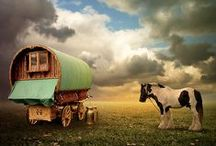 gypsy wagons and folk art / by Lee Eezeerider