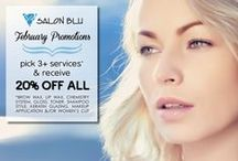 Monthly Promotions / Salon Blu's monthly deals!