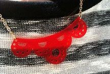 Lasercut jewels / Totally fresh unique designs @ MAKE DIY community