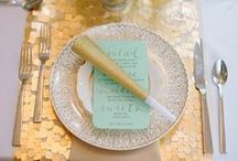 Mint, Gold & White Wedding. / With a couple of other colors thrown in.