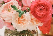 Coral, Gold and White Wedding. / With a few other colors sprinkled in.