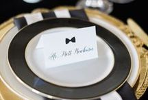 Bold & Beautiful Wedding Inspiration /  Incorporating back and bold statements into your wedding