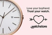 "Dezeen Watch Store's ""Trust your watch"" campaign / We're celebrating Valentine's Day with a cheeky campaign highlighting the reliability of our watches! / by Dezeen Watch Store"
