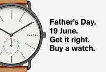 Top gift ideas for Father's Day / Buy your dad a gift he actually wants this year. Browse our full collection of watches and pick your perfect gift. / by Dezeen Watch Store