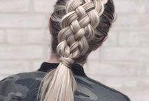 Hair, bangs, highlights