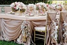 Wedding inspirations / wedding dresses, tables and decorations, ...