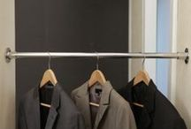 Kleiderstange - I-Form / Die Garderobenstange oder Kleiderstange in L-Form ist aus hochwertigem Edelstahl. Die Ausführung der L-Form lässt eine Befestigung zwischen zwei Wänden oder Zwischen Wand und Decke zu.