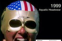 La evolución de las gafas / Línea de tiempo - Gafas de natación Speedo