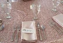 Sequin Table Linens / Sequin Wedding table linens  tablecloths