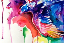 Color Explosions / Super bright, rainbow-colored artwork and photography!