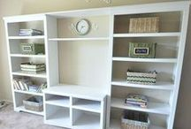 Home: The Office / Ideas on creating a work space that is beautiful and multi-functional.