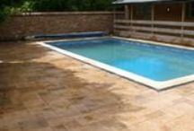 Readypave poolsides / Readypave pattern imprinted concrete paved swimming pool surrounds