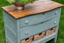 Dresser Makeover Ideas / Be inspired to revive that old dresser...maybe even repurpose it!