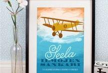 Lastenhuoneen personoidut julisteet - Posters for Kids