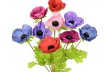 Artificial Anemone / Anemone silks at www.theartificialflowershop.co.uk