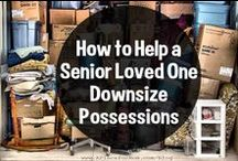 Downsizing Mom's Home / How in the world can you help your Mom downsize her home? Here are posts that will help.