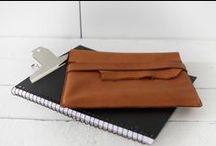 Covers & Cases / A selection of covers and cases made of soft Nordic reindeer leather. All products are designed and handmade in Finland.