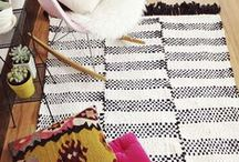 Weaving / Woven rag rugs, cool wall hangings etc.. All kinds of cool stuff I'd like to try