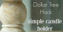 Dollar Tree Hacks / Ideas for using Dollar Tree products for home organization, decor, and more.