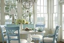 Shabby Chic Decor / Chipped paint, pastel colors, flower prints...just some features that define that shabby chic style.
