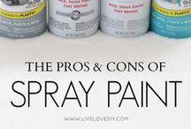 Spray Painting / Spray painting pins!