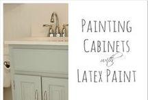 Enamel and Latex Paints / Enamel and latex paint pins!