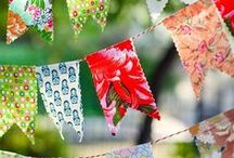 Bunting / Bunting is in! Lets find the perfect party decorations!