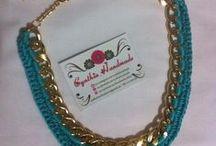 DIY Jewelry Crochet / Collares, pulseras, zarcillos / https://www.facebook.com/cynthiahandmade Todo lo de este tablero está hecho por mi.