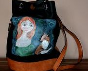 Idylla- hand painted bags / Painted handbags www.facebook.com/idylla.art