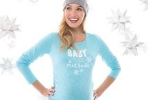 Holiday Pregnancy Wishlist / Hello Holiday! Must have maternity holiday tees, baby gifts, pregnancy skincare, vests, outerwear, sweaters, and sleepwear!