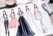 FASHION: ILLUSTRATIONS & SKETCHES