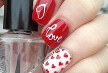 Valentine's Day Beauty / Hair,  makeup and nail designs with Valentine's Day flair!