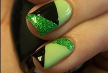 St. Patrick's Day Style / Makeup & Nail designs with a St. Patrick's Day theme!